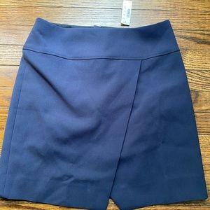 J.crew asymmetrical hem skirt navy blue